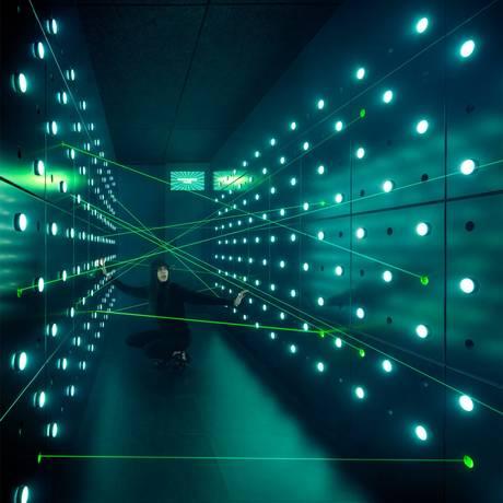 Spyscape - sala de laser do Museu em Nova York. BV. Foto de Divulgação/Scott Frances Foto: Divulgação/Scott Frances