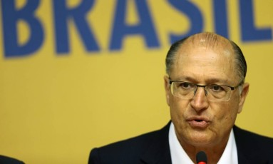 O governadorde São Paulo, Geraldo Alckmin, participa de reunião da executiva do PSDB Foto: Jorge William/Agência O Globo/07-02-2017