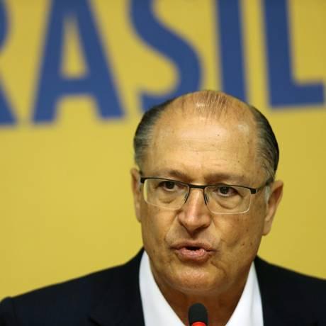 O governador de São Paulo, Geraldo Alckmin Foto: Jorge William/Agência O Globo/07-02-2017