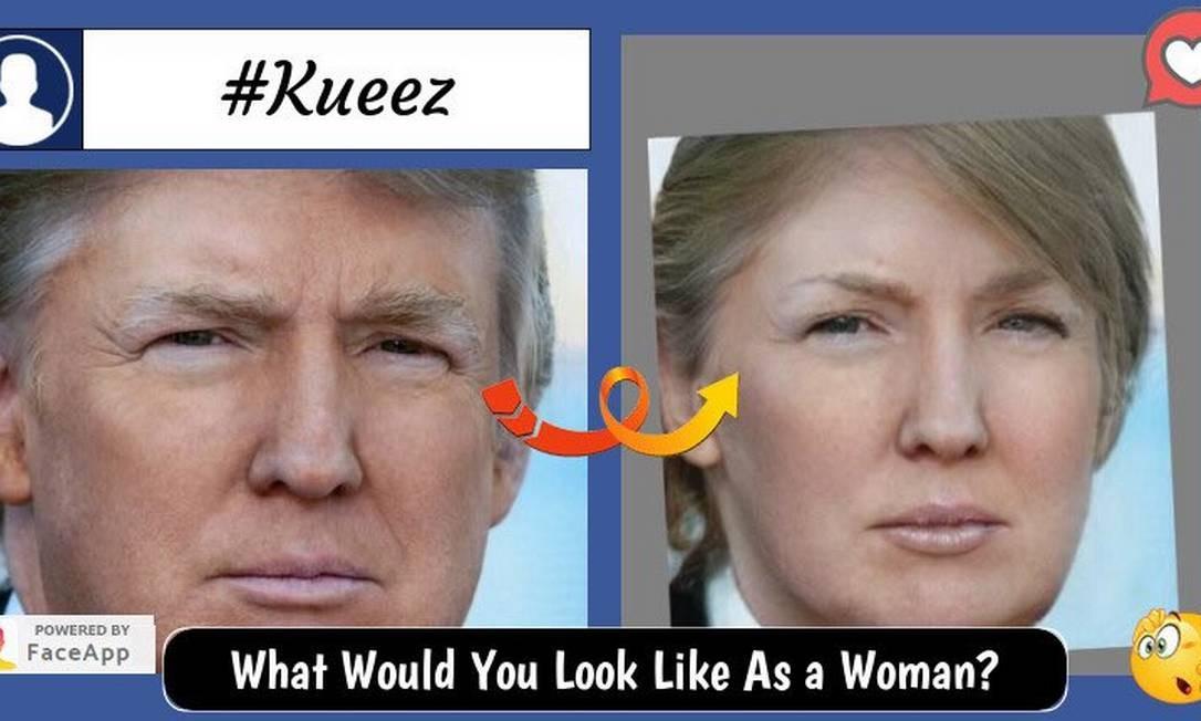 Donald Trump e sua versão feminina Foto: Reprodução