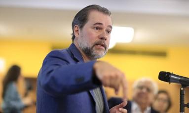 O ministro do STF Dias Toffoli Foto: Edilson Dantas / Agência O Globo / 23-2-18