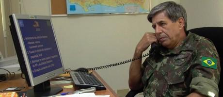 Militar Augusto Heleno Ribeiro, enquanto chefe das tropas da missão de paz da ONU no Haiti (Arquivo) Foto: José Meirelles Passos