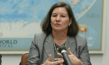 A embaixadora brasileira Maria Luiza Ribeiro Viotti Foto: Givaldo Barbosa