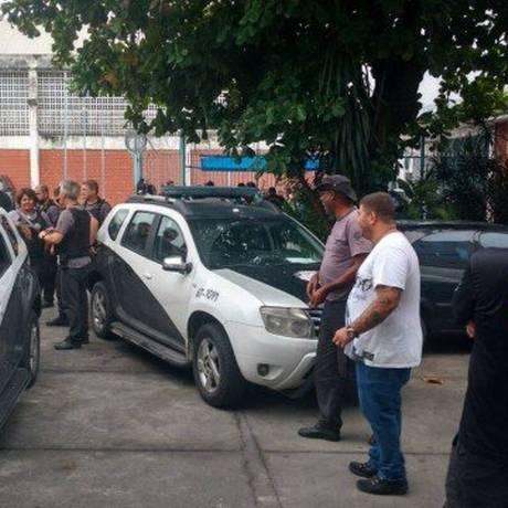 Divisão de Homicídios faz perícia no Educandário Santo Expedito, onde internos foram mortos Foto: Reprodução