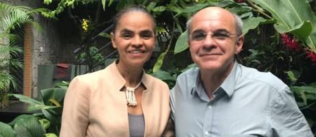 Marina Silva e Eduardo Bandeira de Mello, no almoço que selou a filiação Foto: Arquivo pessoal