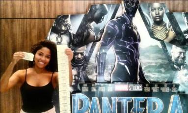 """Vitória Sant'Anna levará 210 crianças negras e de periferia para assistir """"Pantera Negra"""" no cinema Foto: Facebook/Reprodução"""