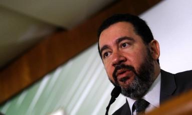 O ministro do Planejamento, Dyogo Oliveira, durante entrevista coletiva Foto: Jorge William/Agência O Globo/02-02-2018