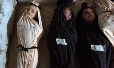 Intenso bombardeio em Ghouta provocou alto número de vítimas civis, inclusive crianças Foto: HAMZA AL-AJWEH / AFP