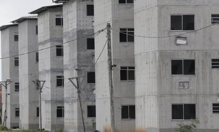 Conjunto habitacional no Rio: a investigação apontou prejuízo para os cofres públicos, já que empresas cobravam a mais pelo cimento usado em obras públicas, como o programa Minha Casa Minha Vida Foto: Roberto Moreyra / Roberto Moreyra/10-2-2017