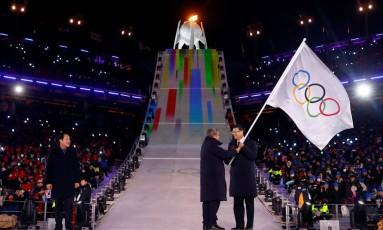 Cerimônia de encerramento dos Jogos de Inverno Foto: KAI PFAFFENBACH / REUTERS