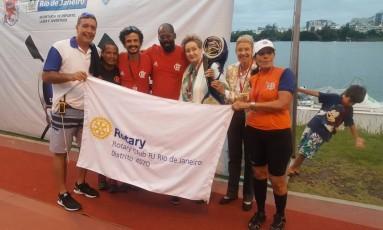 Flamengo comemora título na Regata de Velocidade Foto: Divulgação