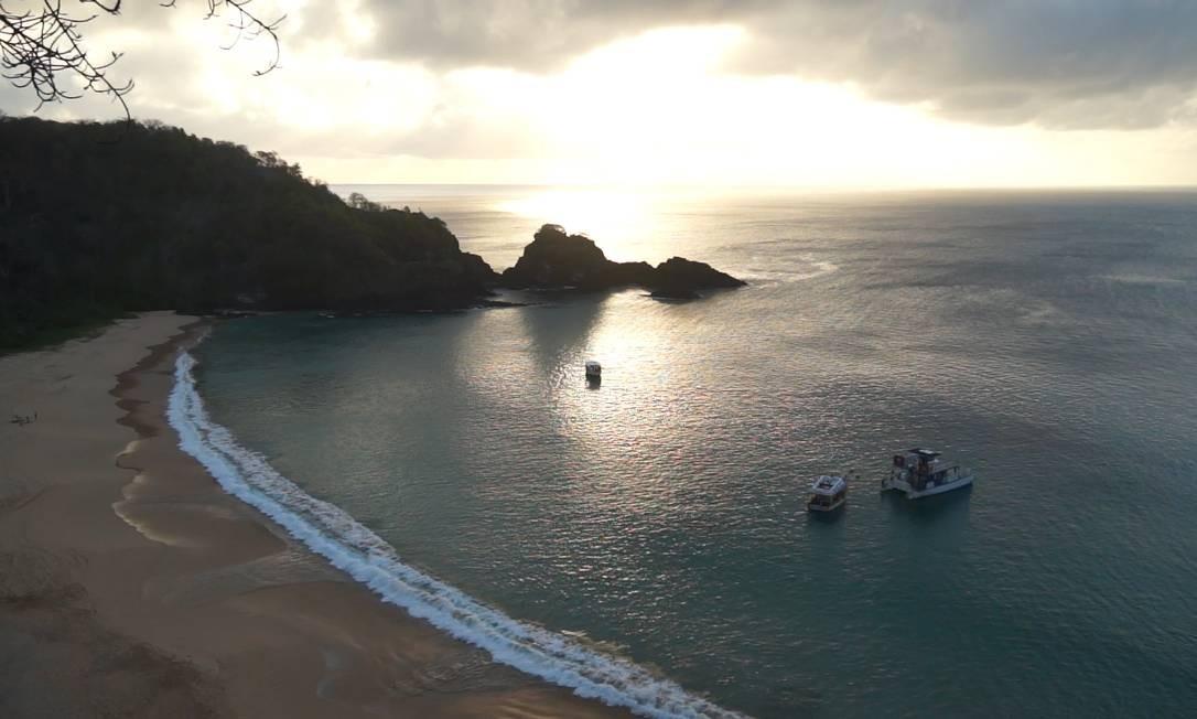 A Baía do Sancho, em Fernando de Noronha: a favorita dos turistas Foto: Arquivo
