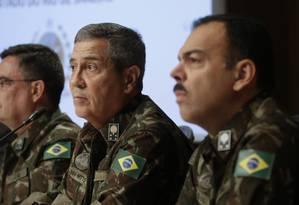 Coletiva da intervenção na Segurança Pública do Rio Foto: Gabriel de Paiva / Agência O Globo