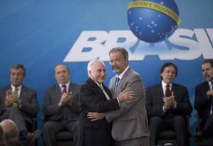 O presidente Michel Temer participa da posse de Raul Jungmann no Ministério da Segurança Pública Foto: Jorge William / Agência O Globo