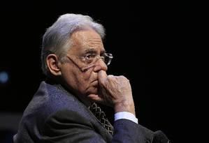 O ex-presidente Fernando Henrique Cardoso, durante fórum promovido pelo
