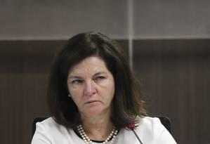 A procuradora-geral da República, Raquel Dodge, durante audiência pública Foto: Ailton Freitas / Agência O Globo