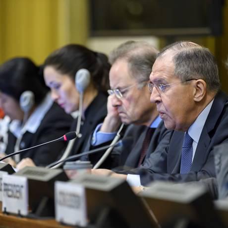 Líderes e embaixadores se reuniram para discutir dessarmamento Foto: Martial Trezzini / AP