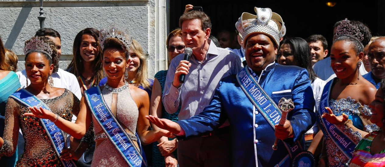 Prefeito envia documento à Liesa dizendo não ter nada contra à mudança no resultado oficial do carnaval Foto: Marcelo Regua / Agência O Globo