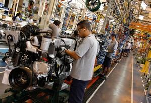 Fábrica de automóveis: recuperação da indústria ajudou no resultado Foto: Divulgação
