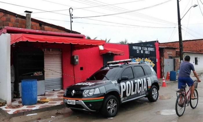 Fachada de boate onde 14 foram mortos em Fortaleza, em 27 de janeiro deste ano Foto: Rodrigo Carvalho / AFP