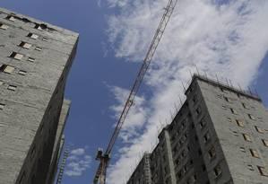 Prédio em construção no Rio. Foto: Gustavo Azeredo Foto: Gustavo Azeredo / Agência O Globo