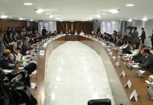 O presidente Michel Temer se reúne com os governadores em Brasília para falar sobre a segurança pública Foto: Ailton Freitas / Ailton Freitas