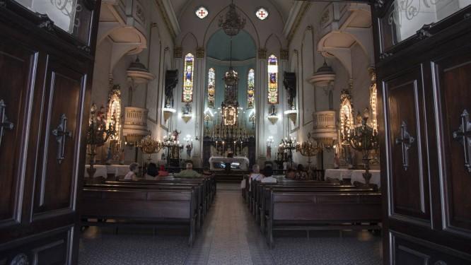 Igreja de Nossa Senhora da Lampadosa, na Rua Senhor dos Passos, proxima à Praca Tiradentes, no Centro do Rio Foto: Julio Cesar Guimaraes / Agência O Globo