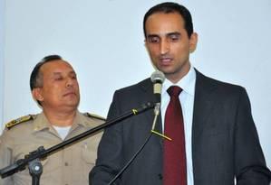 Elzio Silva quando Superintendente da PF em Tocantins, 04/12/2012 Foto: Divulgação / Polícia Militar do Tocantins