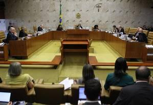 Sessão plenário do Supremo Tribunal Federal Foto: Jorge William / Agência O Globo