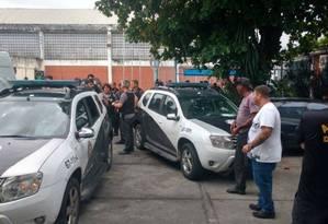 Divisão de Homicídios faz perícia no Educandário Santo Expedito, onde internos foram mortos Foto: Reprodução / .
