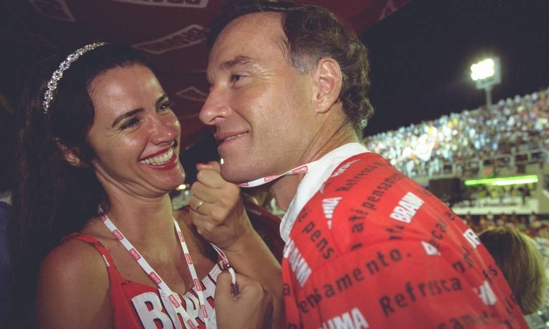 Luma e Eike no carnaval de 2001 Foto: Ana Branco / Agência O Globo
