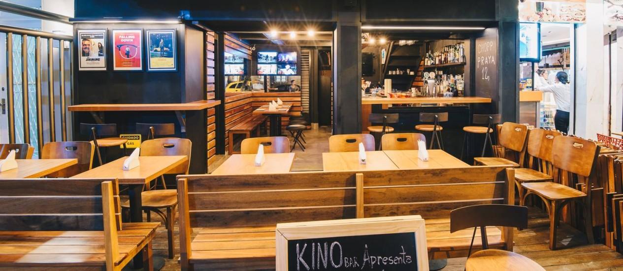 Kino Bar: inspiração no mundo do cinema Foto: Alexandre Woloch / Divulgação/Alexandre Woloch