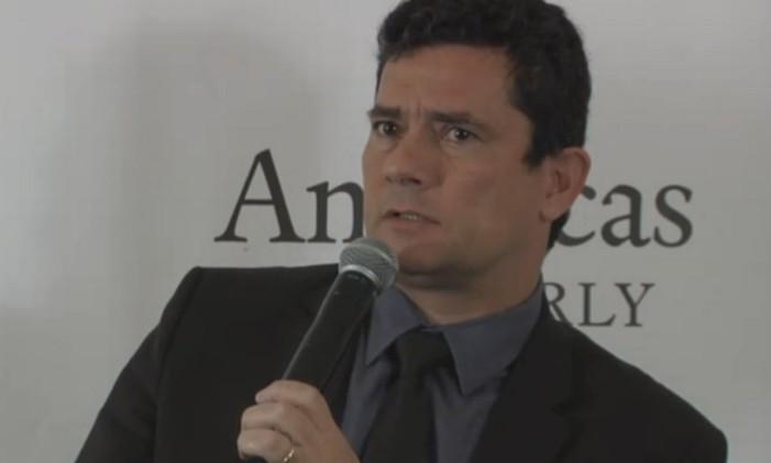 Sérgio Moro palestra em evento na cidade de Nova York Foto: Reprodução