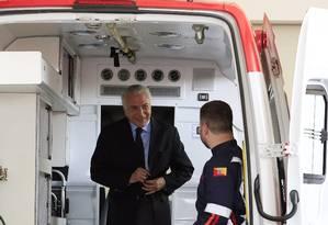 O presidente Michel Temer, durante cerimônia de entrega de ambulâncias em Sorocaba Foto: Edilson Dantas / Agência O Globo