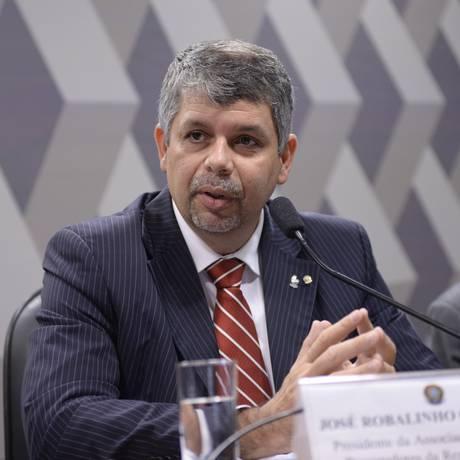 O presidente da ANPR, José Robalinho Cavalcanti, participa de debate na CCJ do Senado Foto: Jefferson Rudy/Agência Senado/03-04-2017