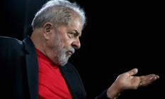 Ex-presidente Luiz Inácio Lula da Sival fala em entrevista no Instituto Lula em São Paulo Foto: NELSON ALMEIDA / AFP
