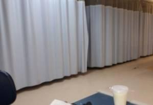 Leitos de UTI fechados no Hospital Municipal Pedro II, em Santa Cruz Foto: Reprodução/30.11.2017