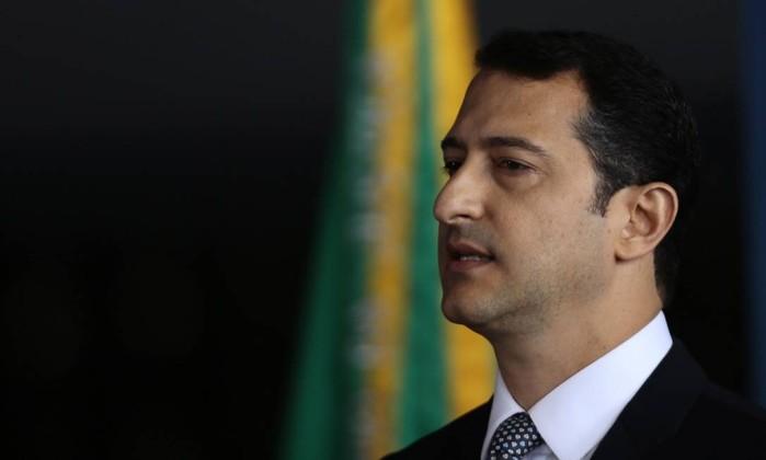 O novo diretor-geral da Polícia Federal, delegado Rogério Galloro, durante sua posse no cargo Foto: Jorge William / Agência O Globo