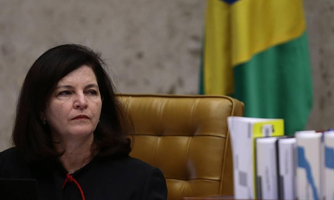 A procuradora-geral da República, Raquel Dodge, durante julgamento do STF Foto: Jorge William / Agência O Globo