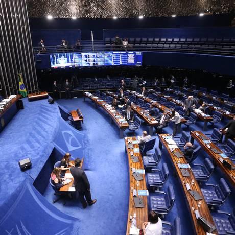O plenário do Senado Foto: Ailton de Freitas / Agência O Globo / 7-2-18
