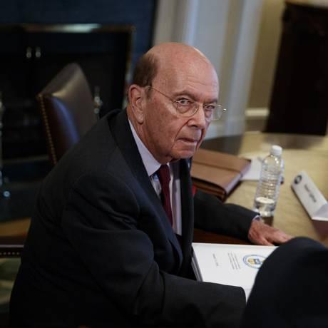 Wilbur Ross, secretário de Comércio, diz que Trump não considera isenção a tarifas de aço e alumínio Foto: Evan Vucci / AP
