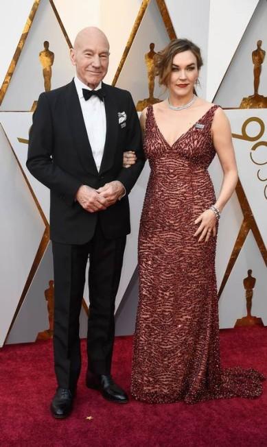 O ator Patrick Stewart e a mulher, a cantora Sunny Ozell Frazer Harrison / AFP