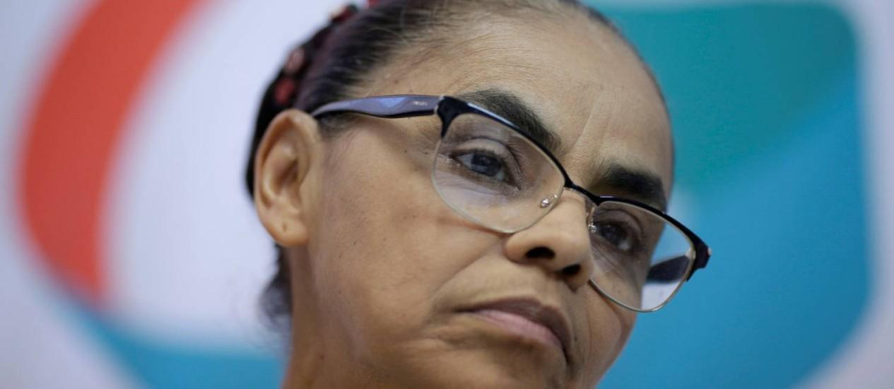 Marina Silva sofre com isolamento político Foto: UESLEI MARCELINO / REUTERS