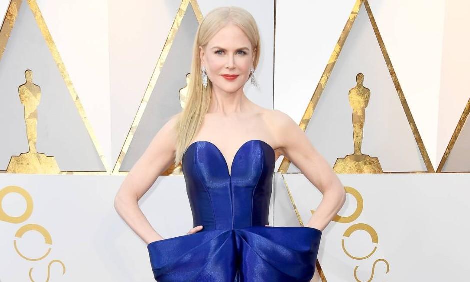A atriz Nicole Kidman chegou com um dos vestidos mais elogiados da noite Foto: Frazer Harrison / Getty Images