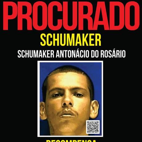 Bandido é apontado como o chefe do tráfico de comunidades do bairro Jardim Catarina, em São Gonçalo Foto: Portal dos Procurados/Divulgação