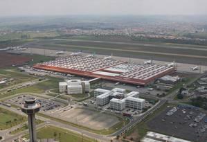 Imagem aérea do Aeroporto de Viracopos, em Campinas Foto: Divulgação/ Infraero