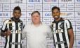 Marcelo e Yago são apresentados pelo Botafogo