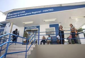 Adriana ficou 21 dias internada na CER Centro, emergência ligada ao Hospital municipal Souza Aguiar Foto: Márcia Foletto/12.04.2016