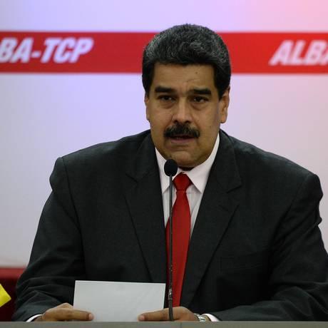 Presidente venezuelano, Nicolas Maduro. Oposição divulgou dados que apontam nova queda na economia do país Foto: FEDERICO PARRA / AFP
