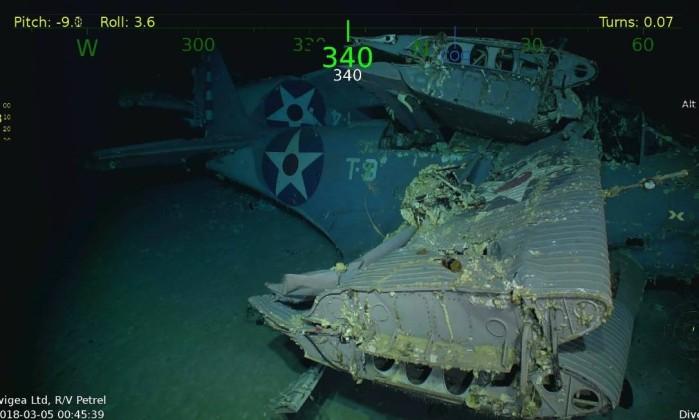 Encontrados destroços de porta-aviões afundado na II Guerra Mundial